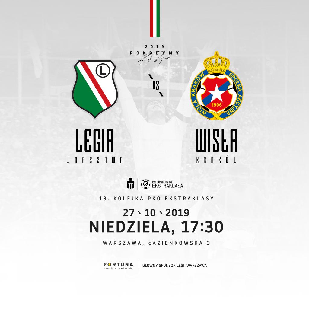 Bilety na mecz Legia vs Wisła!
