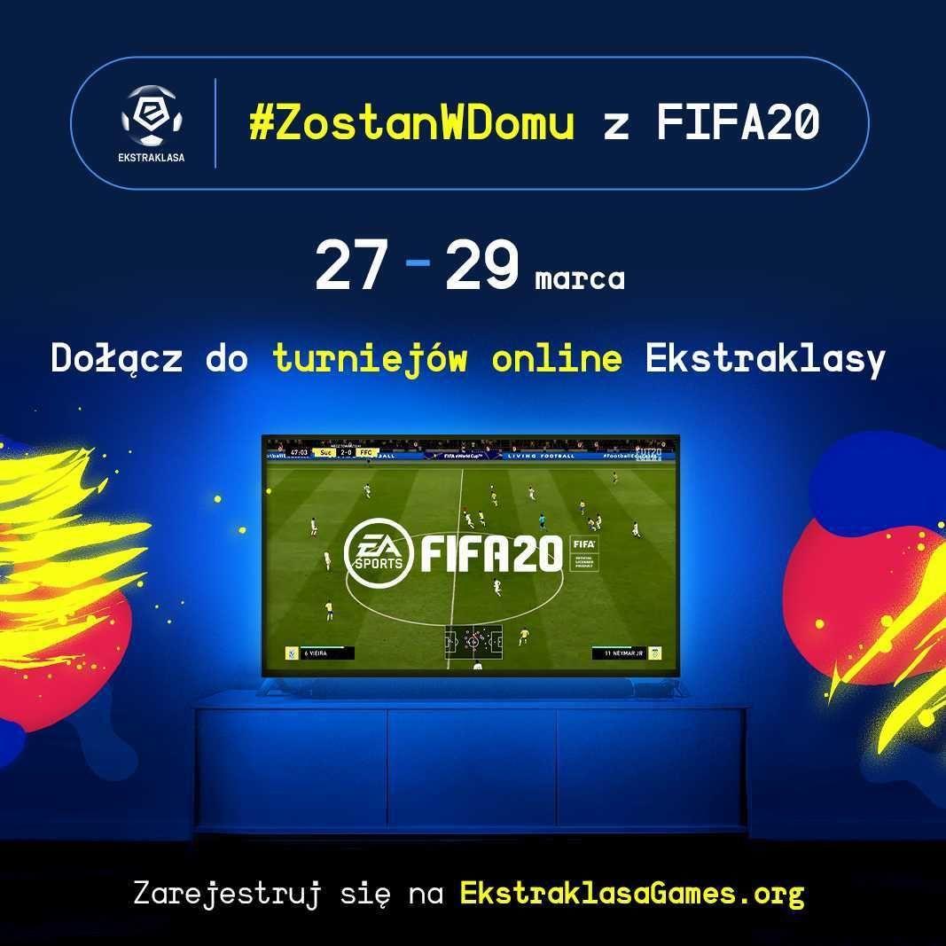 #ZostanWDomu z FIFA20 – zagraj w turnieju Ekstraklasy!