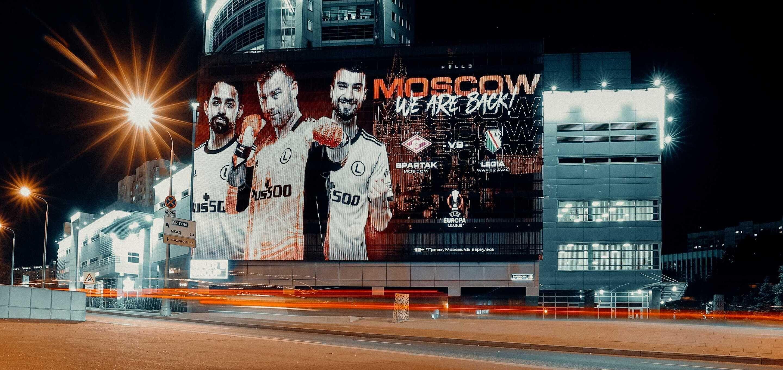"""We are back"" - kampania billboardowa Legii na ulicach Moskwy"
